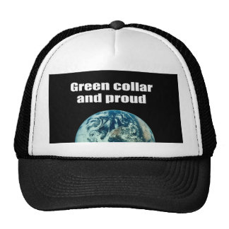 Green collar and proud trucker hat