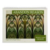 Green Collection Abstract Fractal Calendar