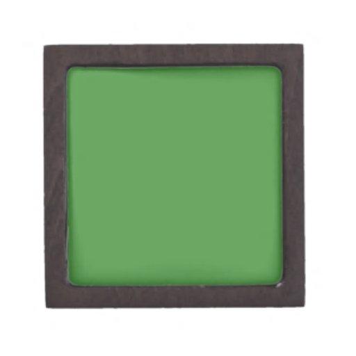 Green Color 2 inch Square Premium Jewelry Box