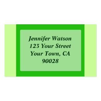 green color business cards