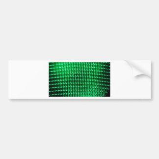 Green Color Iamge Bumper Sticker