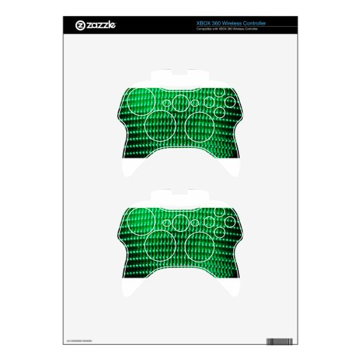 Green Color Iamge Xbox 360 Controller Decal