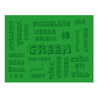 Green - Color Languages on Postcards