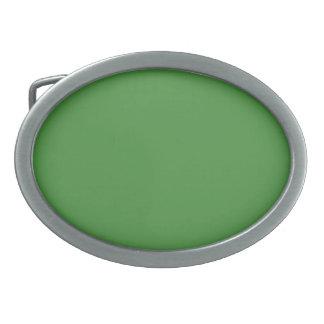 Green Color Oval Belt Buckles