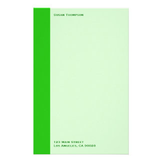 green color stationery