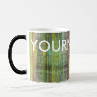 Green Colored Abstract Modern Your Name Art Mug