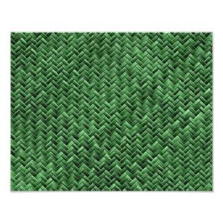 Green Colored Basket weave Pattern Art Photo