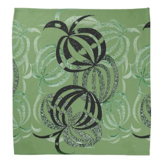 Green Colored Pencil Nature Bandana