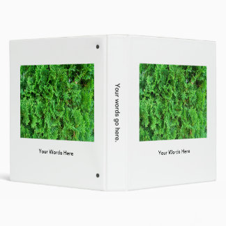 Green colorful evergreen shrub hedge art photo binder