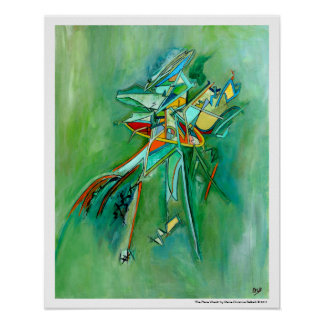 Green Colorful Wreck Abstract Art for Sale Poster