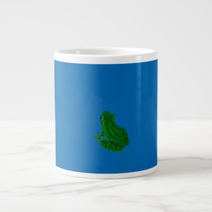 green colorized against blue looking up jumbo mugs