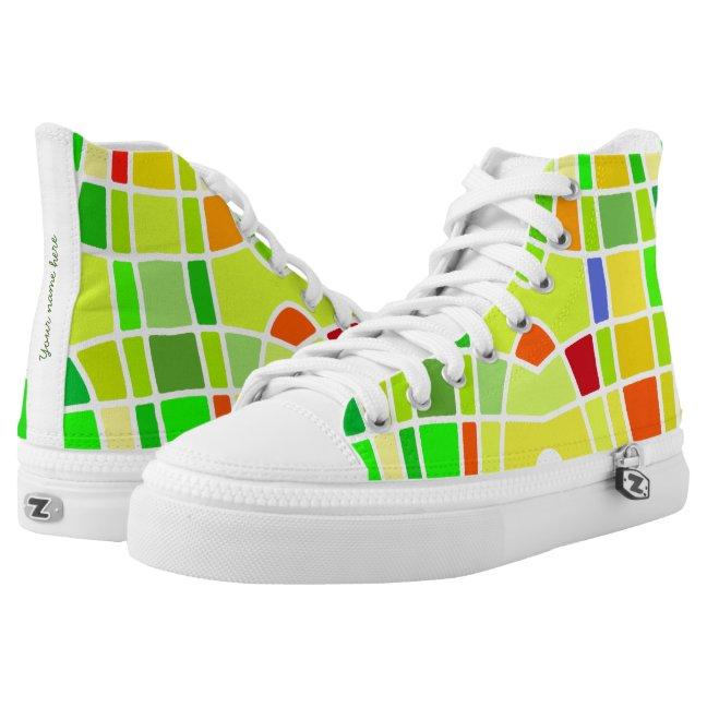 Green colors sneakers