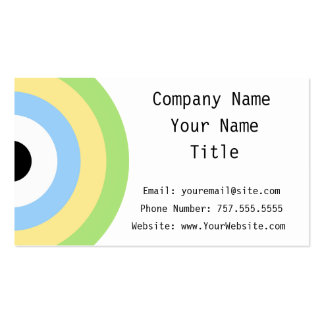 Green Combination Bullseye Double-Sided Standard Business Cards (Pack Of 100)