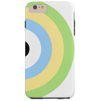 Green Combination Bullseye Tough iPhone 6 Plus Case