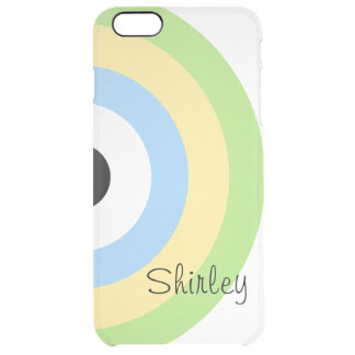Green Combination Bullseye Uncommon Clearly™ Deflector iPhone 6 Plus Case