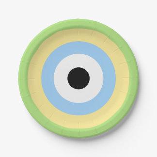 Green Combination Bullseye Paper Plate