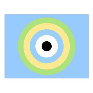 Green Combination Bullseye Postcard
