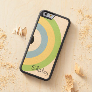 Green Combination Bullseye Carved® Maple iPhone 6 Bumper Case