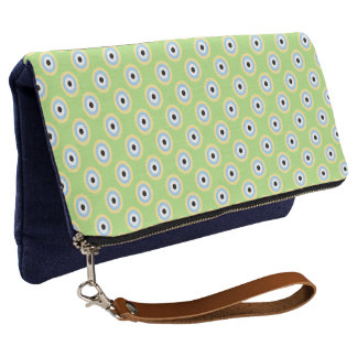 Green Combination Circles by Shirley Taylor Clutch