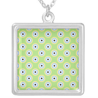 Green Combination Circles by Shirley Taylor Silver Plated Necklace