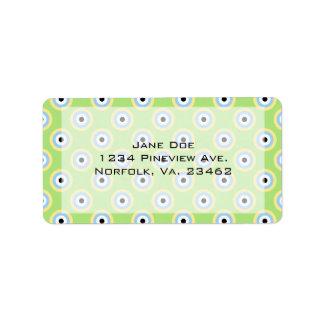 Green Combination Circles Label