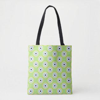 Green Combination Circles Tote Bag