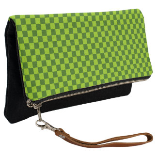 Green Combination Classic Checkerboard by STaylor Clutch