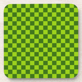 Green Combination Classic Checkerboard by STaylor Coaster