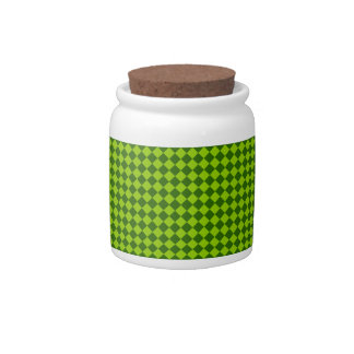 Green Combination Diamond Pattern by STaylor Candy Jar