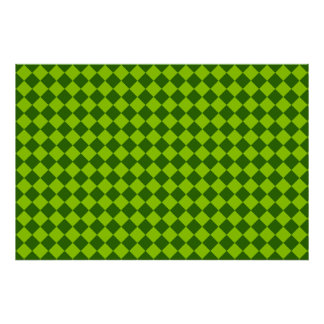 Green Combination Diamond Pattern by STaylor Poster