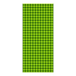 Green Combination Diamond Pattern Rack Card Template