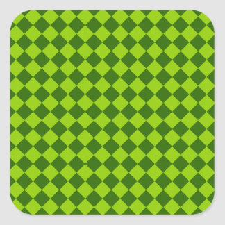 Green Combination Diamond Pattern Square Sticker