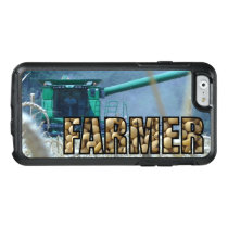 Green Combine Harvesting Wheat Farm Otterbox Case