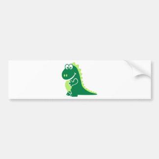 Green comic dragon car bumper sticker