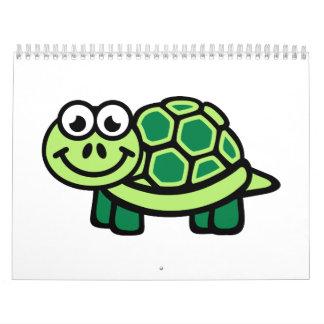 Green comic turtle calendar