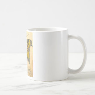 Green Comma Butterfly Coffee Mug