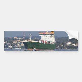 Green Commercial Vehical Ferry Car Bumper Sticker