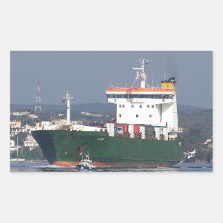 Green Commercial Vehical Ferry Rectangular Sticker