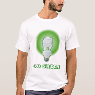"Green Compact Fluorescent - ""GO GREEN"" T-Shirt"