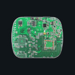 """Green Computer Geek Circuit Board Jelly Belly Candy Tin<br><div class=""""desc"""">This one&#39;s for the Geeks and Nerds in all of us.  Green Computer Circuit Board</div>"""