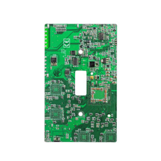 Green Computer Geek Circuit Board Light Switch Cover