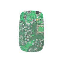 Green Computer Geek Circuit Board Minx Nail Art