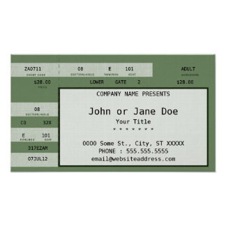 green concert ticket poster