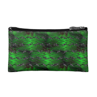 Green Conical Sine Makeup Bag