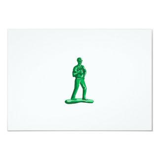Green Construction Worker Nailgun Retro Card