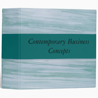 Green contemporary Business concepts Binder