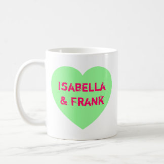 Green Conversation Heart Coffee Mug