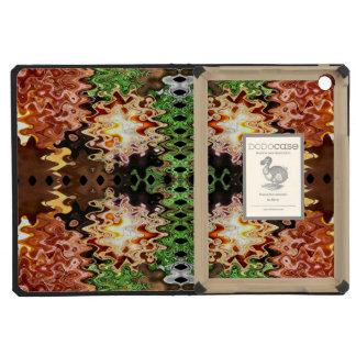 Green Copper Brown abstract design iPad Mini Cover