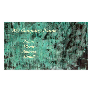 Green Copper Patina Texture Double-Sided Standard Business Cards (Pack Of 100)