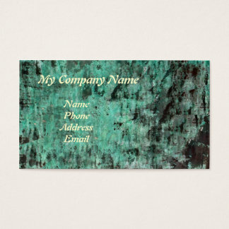 Green Copper Patina Texture Business Card